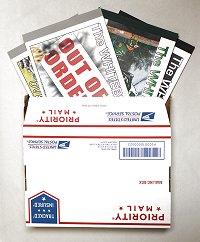 4 books, Priority Mail